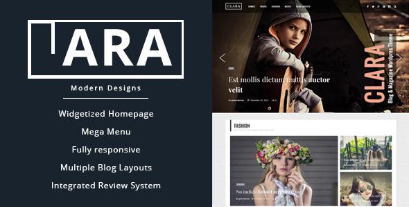 Clara - قالب مجله و وبلاگ وردپرس