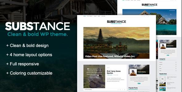 Substance - قالب وردپرس وبلاگی