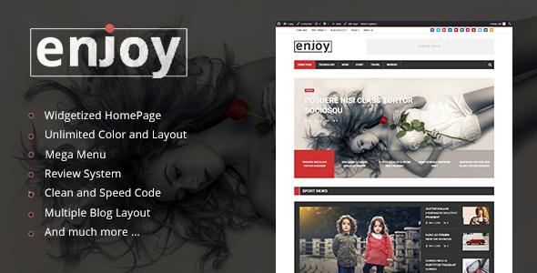 قالب Enjoy - قالب مجله و وبلاگ وردپرس