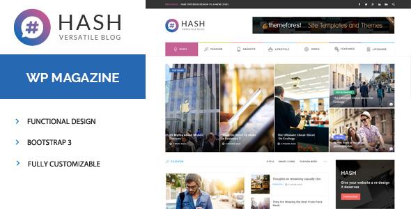 Hash - قالب ریسپانسیو مجله برای وردپرس
