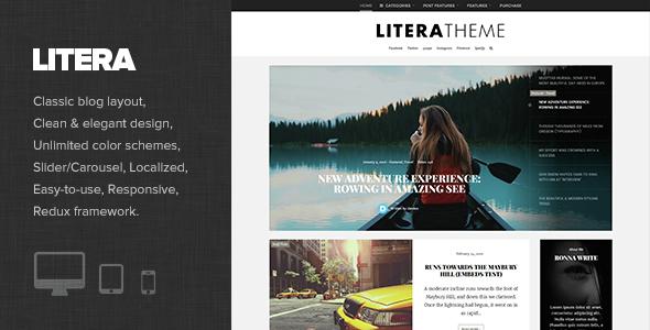 Litera - قالب وبلاگ شخصی وردپرس