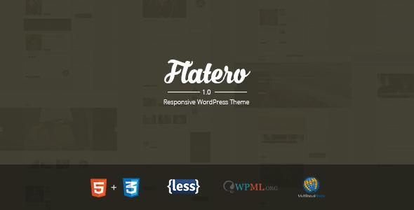 قالب Flatero - قالب وبلاگ وردپرس ریسپانسیو