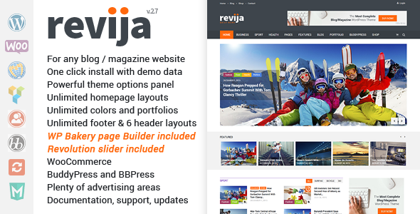قالب Revija - قالب وردپرس وبلاگ و مجله