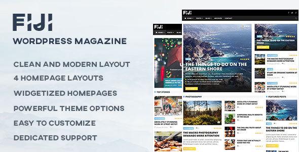 Fiji - قالب مجله و وبلاگ وردپرس