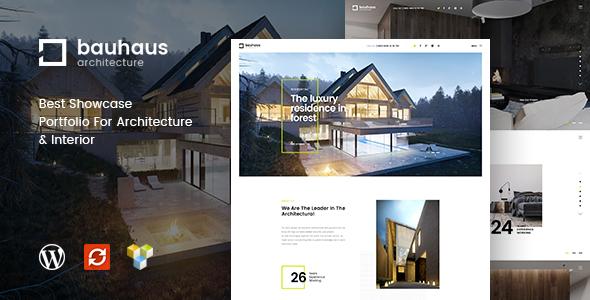 قالب Bauhaus - قالب وردپرس معماری و دکوراسیون داخلی