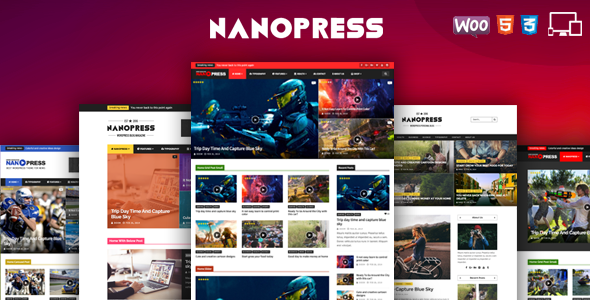 قالب Nanopress - قالب وردپرس مجله ای