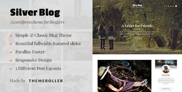 قالب Silver Blog - قالب وردپرس وبلاگی ساده