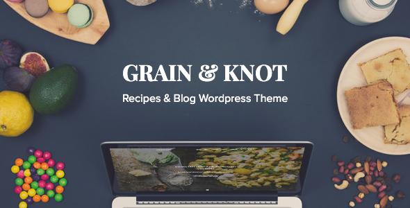 قالب Grain & Knot - قالب وردپرس وبلاگ غذا