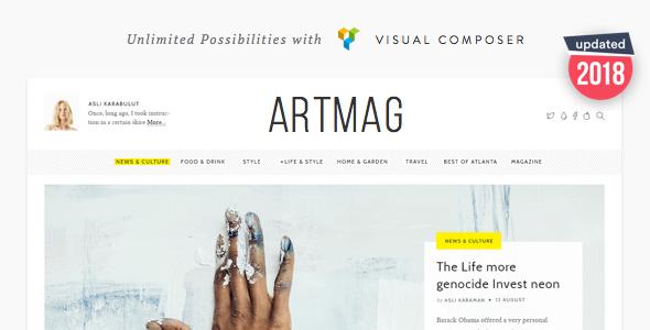 قالب Artmag - قالب سایت خبری و مجله ای