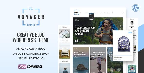 Voyager - قالب وبلاگی خلاقانه وردپرس