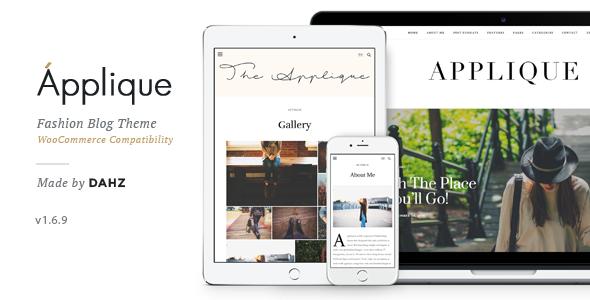 قالب Applique - قالب وبلاگ مد