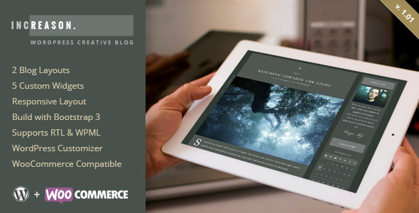 قالب IncReason - قالب وردپرس وبلاگی خلاقانه