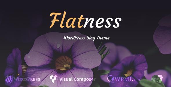قالب Flatness - قالب وبلاگ وردپرس شخصی