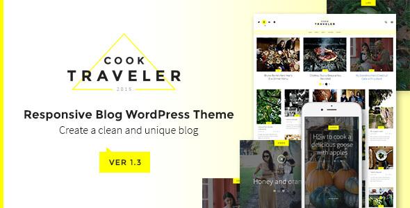 قالب Cook Traveler - قالب وردپرس وبلاگی