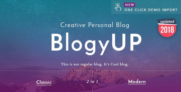 قالب BlogyUP - قالب وبلاگ شخصی وردپرس
