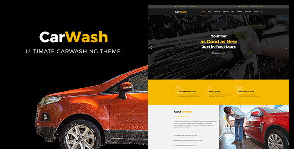 Car Wash - قالب تعمیر و مکانیک خودرو