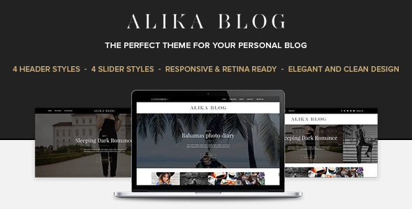 قالب Alika - قالب وبلاگ وردپرس شخصی