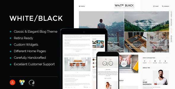 قالب WhiteBlack - قالب وبلاگ وردپرس