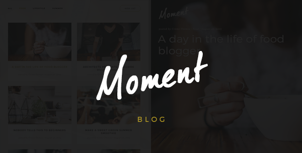 قالب Moment - قالب وردپرس وبلاگی خلاقانه
