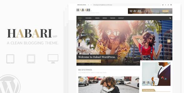قالب Habari - قالب وبلاگ وردپرس
