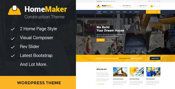 قالب HomeMaker - قالب سایت شرکت ساخت و ساز
