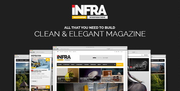 قالب INFRA - قالب وردپرس مجله ساده و زیبا