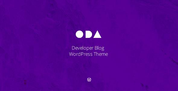 قالب ODA - قالب وردپرس وبلاگی برنامه نویسان
