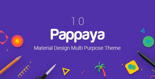 Pappaya - قالب وردپرس متریال دیزاین