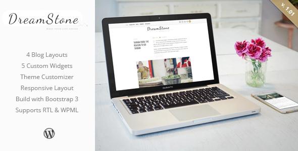 قالب دریم استون | DreamStone - قالب وبلاگ وردپرس شخصی
