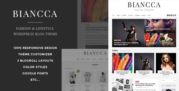 Biancca - پوسته بلاگی وردپرس ویژه مد و سبک زندگی