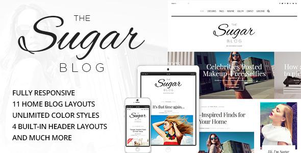 SugarBlog - قالب وبلاگ شخصی و ساده وردپرس