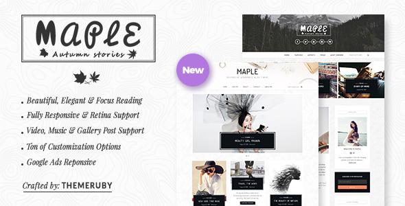 قالب Maple - قالب وبلاگ وردپرس ریسپانسیو