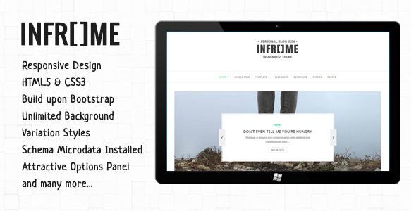 قالب Inframe - قالب وبلاگ وردپرس شخصی