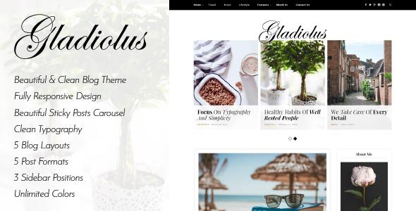 Gladiolus - قالب وبلاگ وردپرس