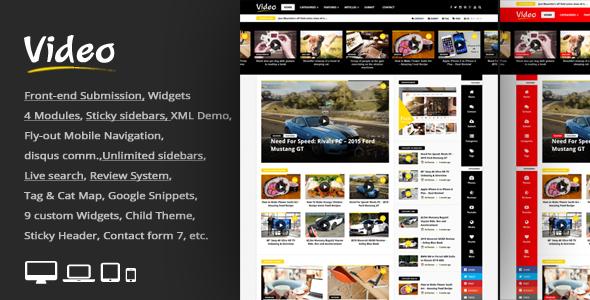 قالب Video News - قالب وردپرس روزنامه / مجله