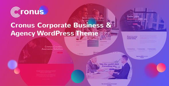 قالب Cronus Plus - قالب وردپرس شرکتی و آژانس کسب و کار