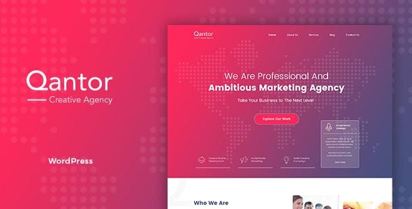 قالب Qantor - قالب وردپرس آژانس طراحی
