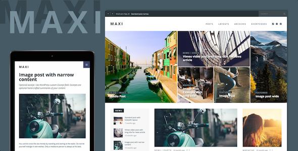 قالب Maxi - قالب خبری و مجله