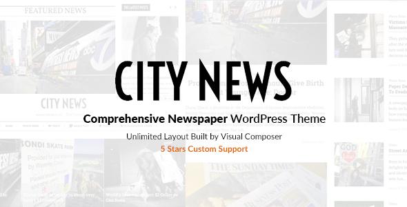 CityNews - قالب وردپرس روزنامه
