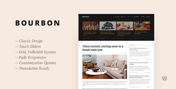 Bourbon - قالب وبلاگ وردپرس ریسپانسیو