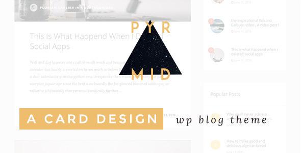 قالب Pyramid - قالب وردپرس وبلاگی