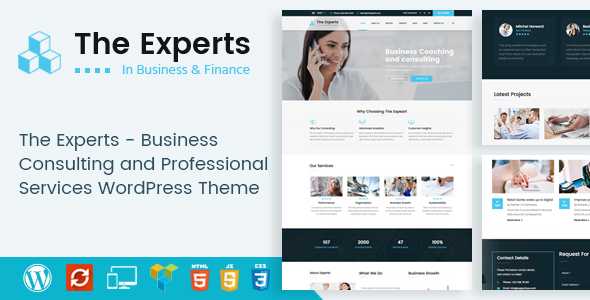 قالب The Experts - قالب وردپرس مشاوره کسب و کار و خدمات حرفه ای