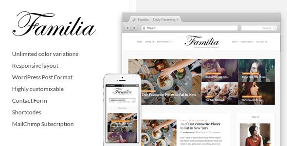 قالب Familia - قالب وبلاگ وردپرس