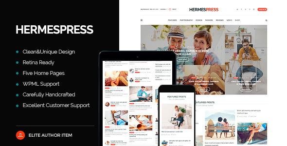 قالب HermesPress - قالب وردپرس مجله و خبری