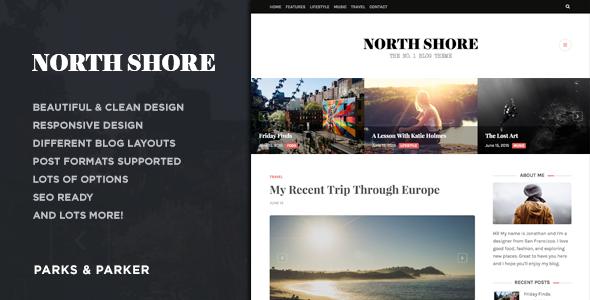 قالب North Shore - قالب وبلاگ وردپرس
