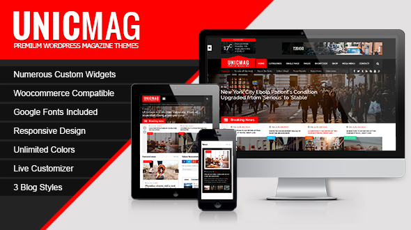 UnicMag - قالب مجله وردپرس