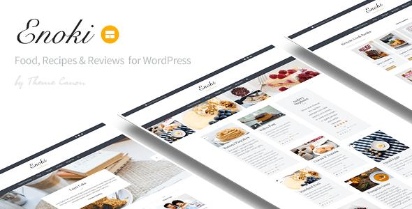 قالب Enoki - قالب وردپرس سایت مواد غذایی