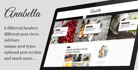 قالب ANABELLA - قالب وردپرس وبلاگ شخصی و خبری