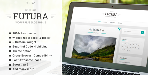 قالب Futura - قالب وبلاگی مینیمال وردپرس