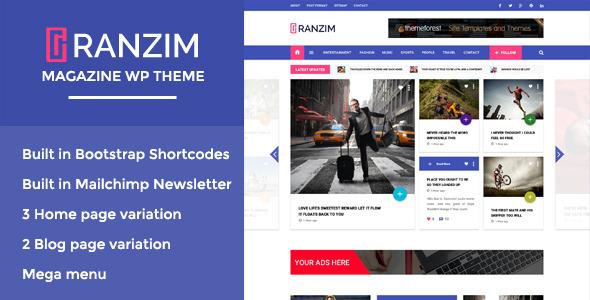 قالب Ranzim - قالب مجله وردپرس